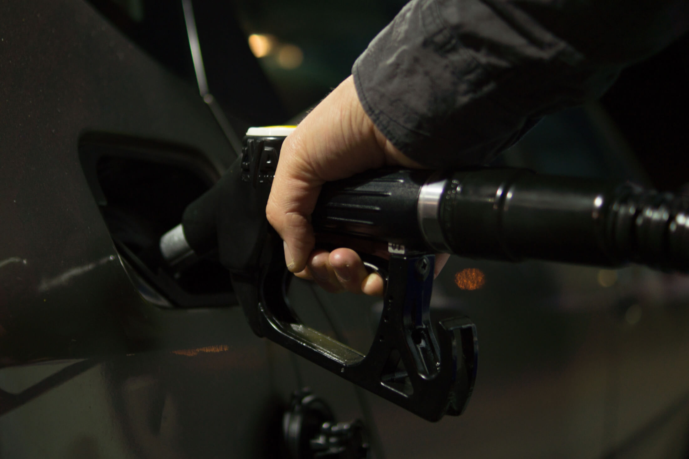 Filling car up with petrol