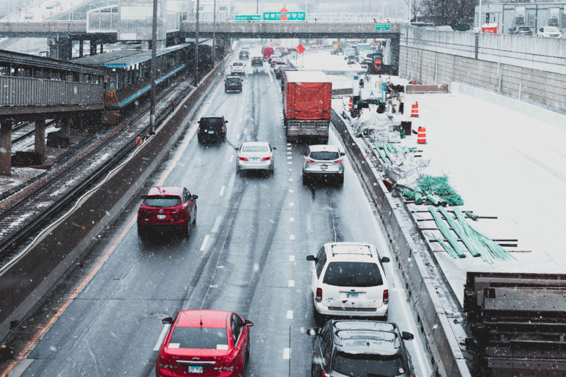 Driving safely winter